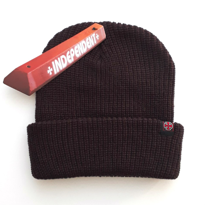 Independent-Trucks-Edge-Cuff-Beanie-Hat-Chocolate