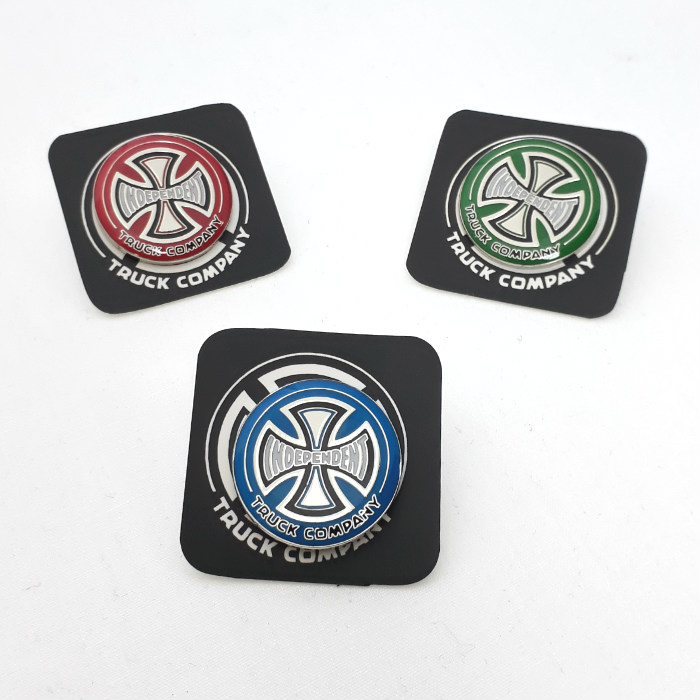 Independent Trucks - Truck Co - Hollow Pin Badge - Blue / Green / Red