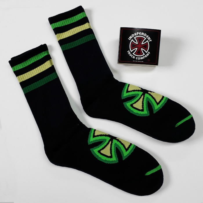 Independent Trucks - Stripes Crew Socks - Black