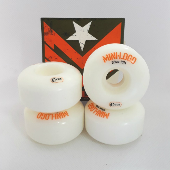 Mini Logo Skateboards - C-Cut Shape - Skateboard Wheels 53mm / 101A - White