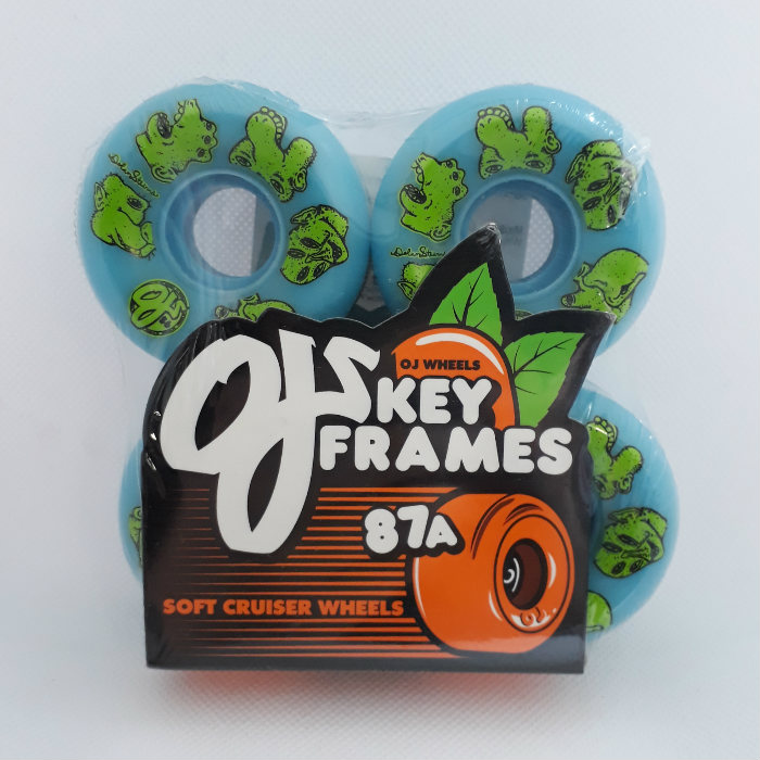 OJ Wheels - Stearns Creatures Keyframe - Skateboard Wheels 56mm / 87a Blue