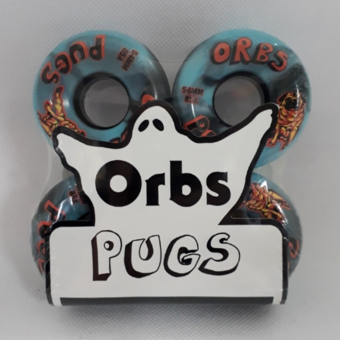 Orbs - Pugs - Skateboard Wheels 54mm / 85a - Blue/Black Swirl