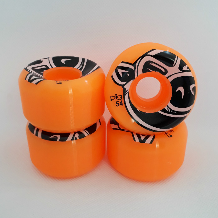 PIG Wheels - 3D Conical - Skateboard Wheels 54mm - Orange