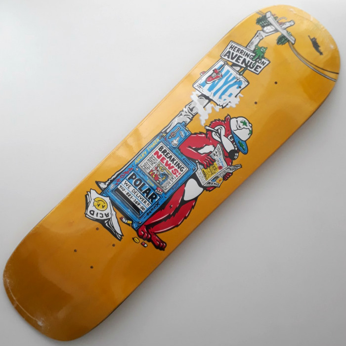 Polar Skate Co - Aaron Herrington - Breaking News - P8 Shaped Skateboard Deck 8.50