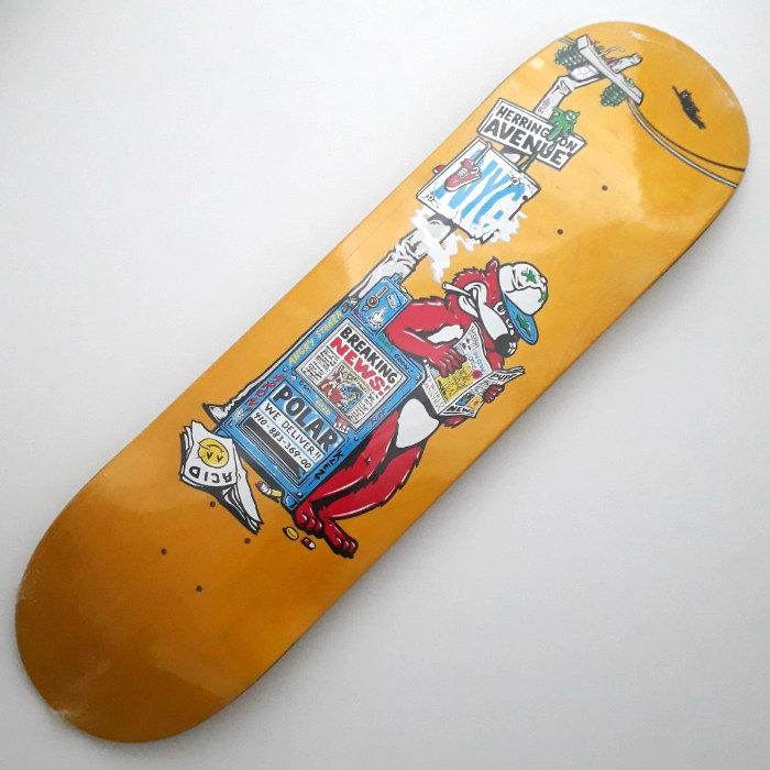 Polar Skate Co - Aaron Herrington - Breaking News - Skateboard Deck 8.50