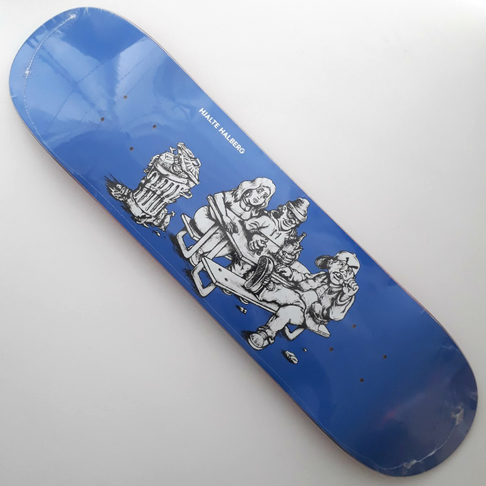 Polar Skate Co - Hjalte Halberg - Picknick Blue - Skateboard Deck 8.00