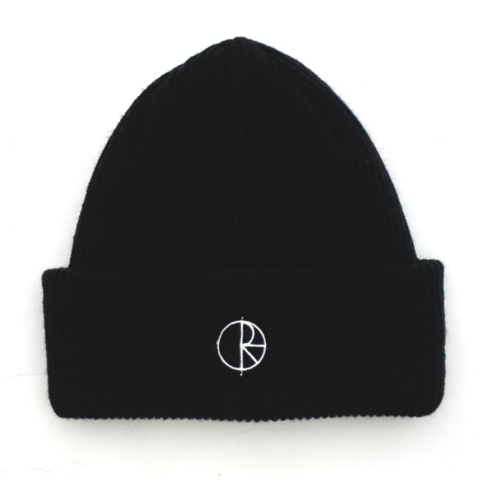 Polar Skate Co - Stroke Logo - Cuff Beanie Hat - Black