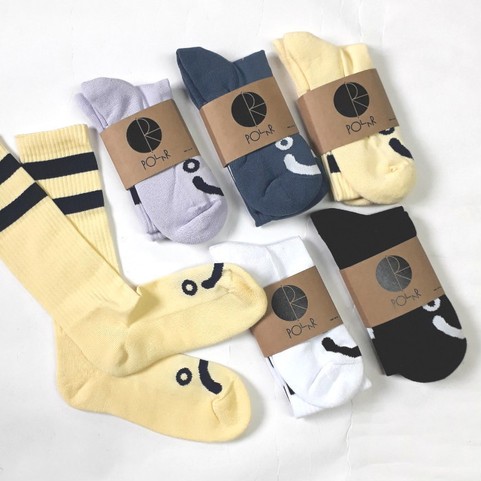 Polar Skate Co - Happy / Sad - Classic Crew Socks
