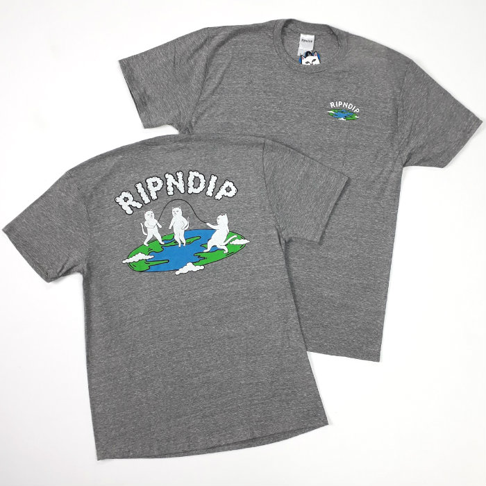 RIPNDIP - Flat T-Shirt - Ash Heather