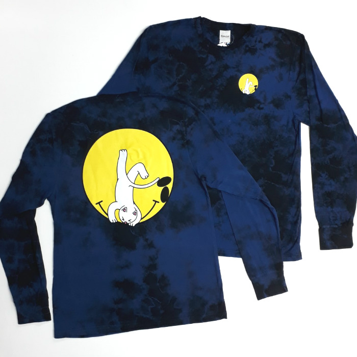 RIPNDIP - It Won't Be Ok - Long Sleeve T-Shirt - Navy Acid Wash