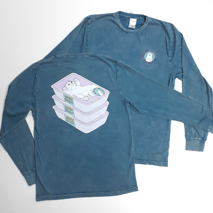 RIPNDIP - Prime Cut Long Sleeve T-Shirt - Teal Mineral Wash