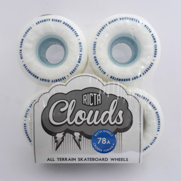 Ricta Wheels - Ricta Clouds - Skateboard Wheels 56mm / 78a - White