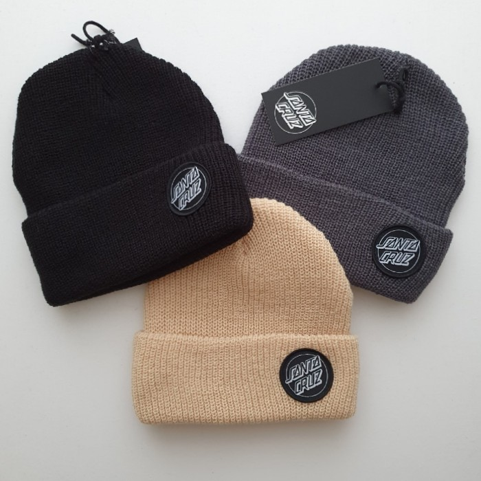 Santa Cruz Skateboards - Outline Dot - Cuff Beanie Hat - Various