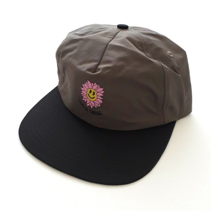 Santa Cruz Skateboards - Baked Flower - Unstuctured Cap - Steel/Black