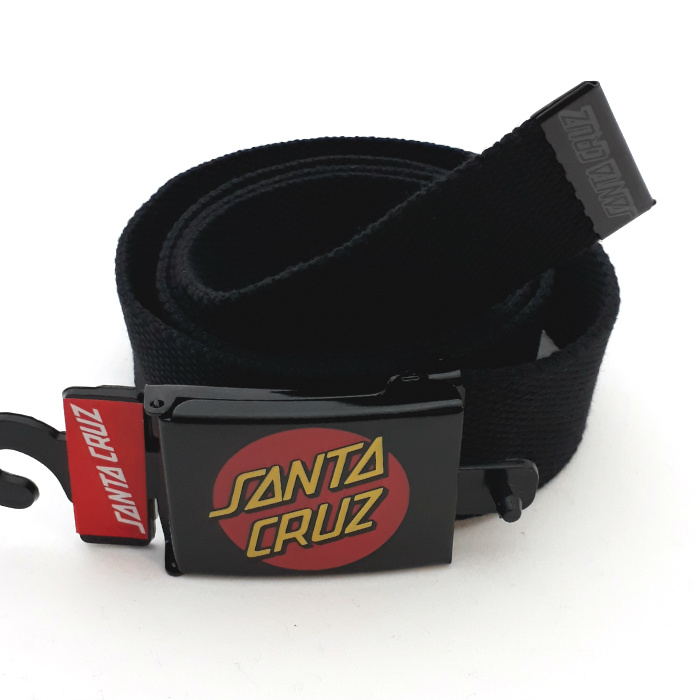 Santa Cruz Skateboards - Classic Dot - Web Belt - Black