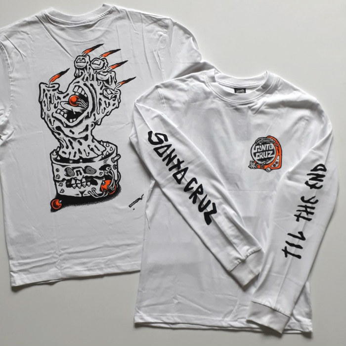 Santa Cruz Skateboards - Digital Black Magic - Long Sleeve T-Shirt - White