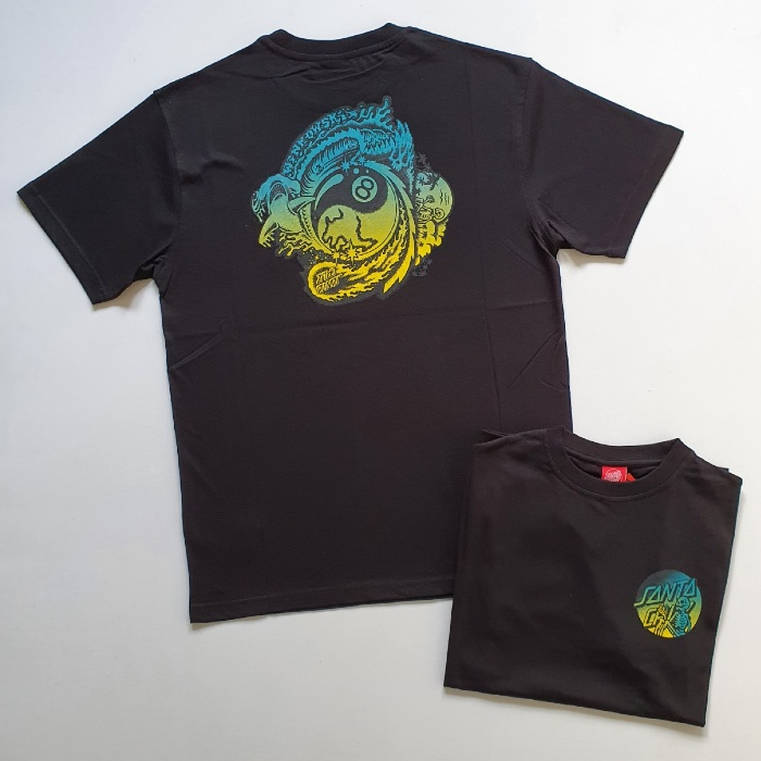 Santa Cruz Skateboards - Dope Planet Fade T-Shirt - Black