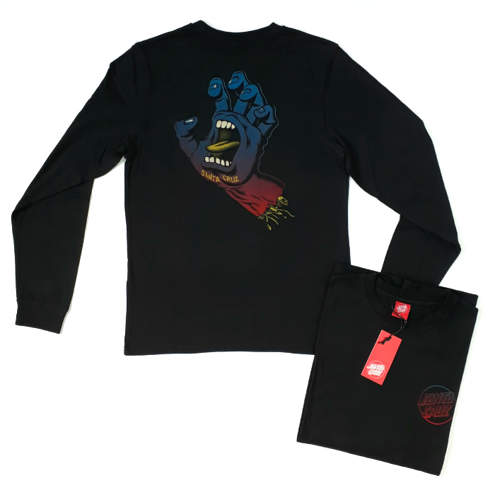 Santa Cruz Skateboards - Fade Hand - Long Sleeve T-Shirt - Black