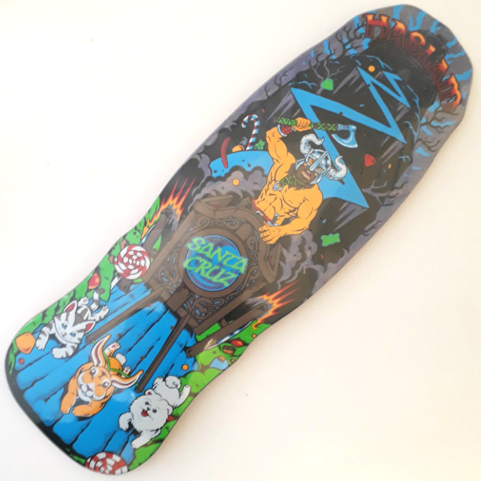 Santa Cruz Skateboards - Haslam Snack Warrior - Shaped Skateboard Deck 9.90