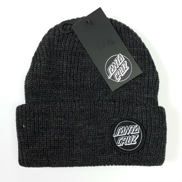 Santa Cruz Skateboards - Outline Dot - Cuff Beanie Hat - Dark Heather