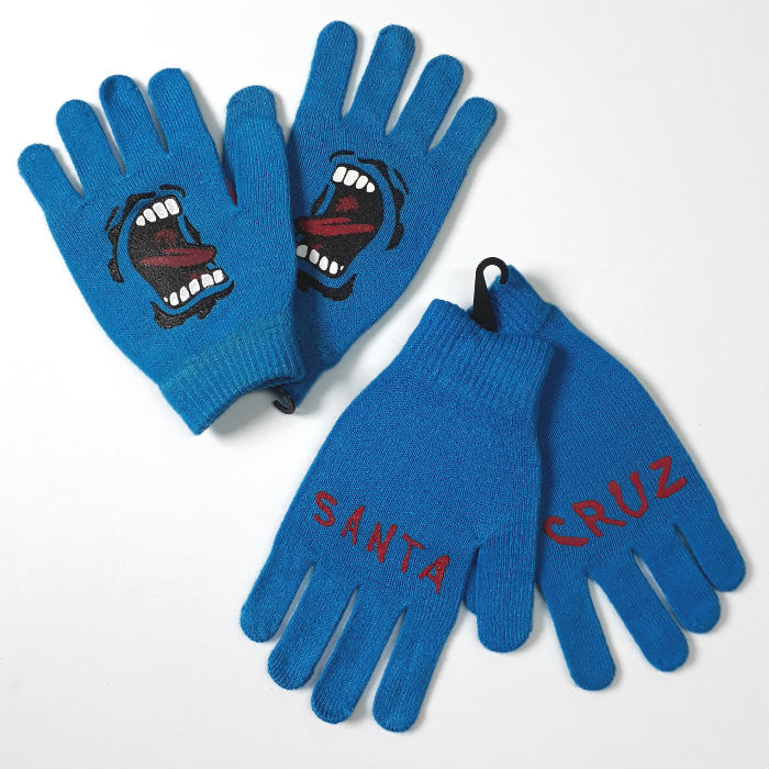 Santa Cruz Skateboards - Screaming Hand Gloves - Blue