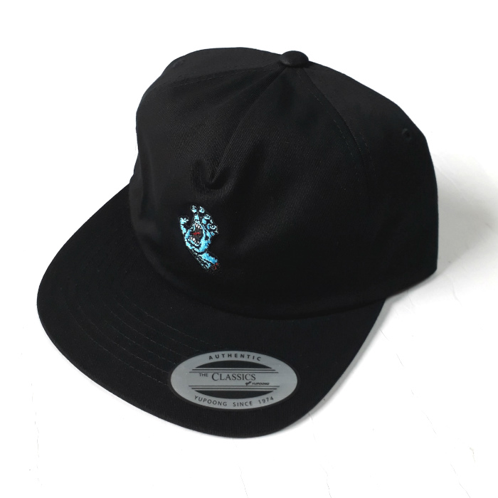 Santa Cruz Skateboards - Screaming Mini Hand - Unstuctured Cap - Black