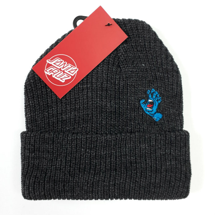 Santa Cruz Skateboards - Screaming Mini Hand - Cuff Beanie Hat - Dark Heather