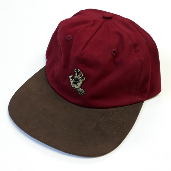 Santa Cruz Skateboards - Screaming Mono Hand - Unstuctured Cap - Burgundy