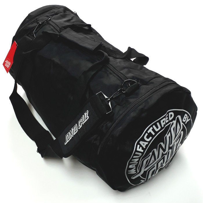 Santa Cruz Skateboards -Strip Stack Duffle Bag / Skate Carrier - Black