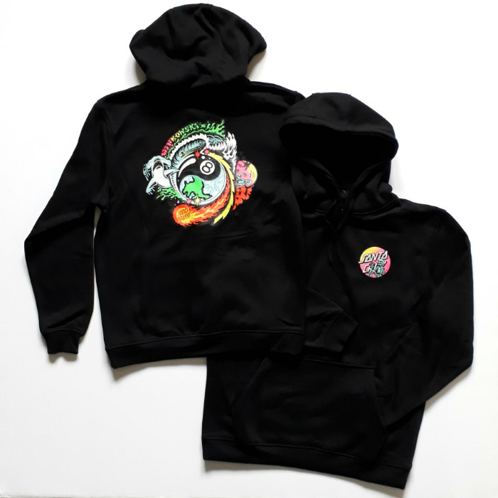 Santa Cruz Skateboards - Winkowski Dope Planet - Hooded Sweatshirt - Black