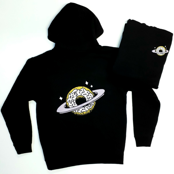 Skateboard Cafe - Planet Donut - Hooded Sweatshirt - Black