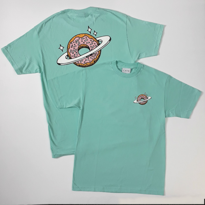 Skateboard Cafe - Planet Donut T-Shirt - Icing Blue