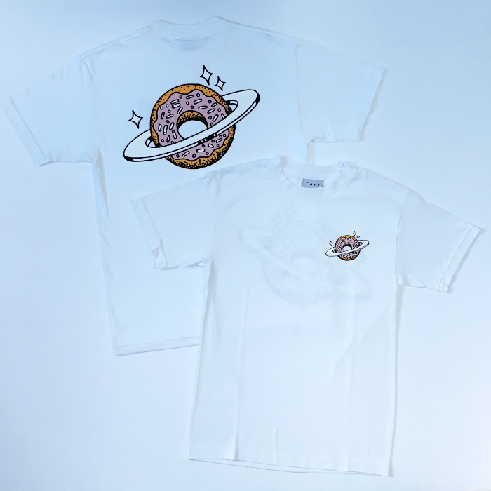 Skateboard Cafe - Planet Donut T-Shirt - White