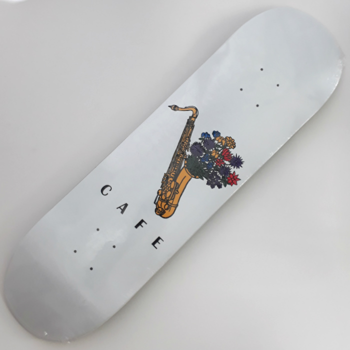 Skateboard Cafe - Sax Flowers - Skateboard Deck 8.40