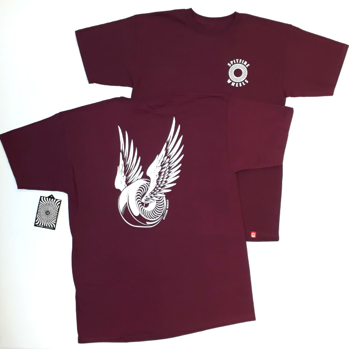 Spitfire Wheels - OG Classic T Shirt - Burgundy/White