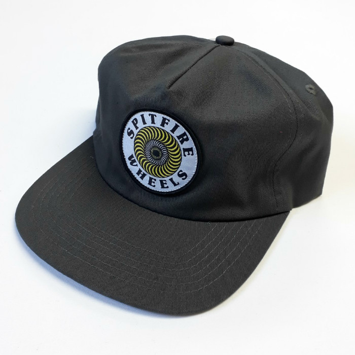 Spitfire Wheels - OG Swirl Patch - Snapback Hat - Charcoal