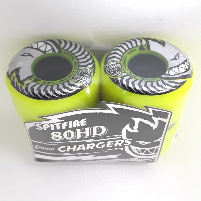 Spitfire Wheels - Chargers - Skateboard Wheels - 56mm / 80du Conical