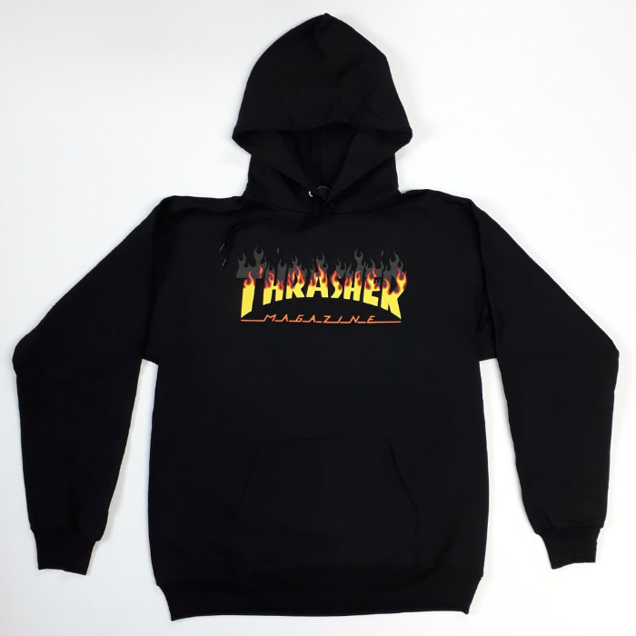 Thrasher-Magazine-BBQ-Pullover-Hooded-Sweatshirt-Black