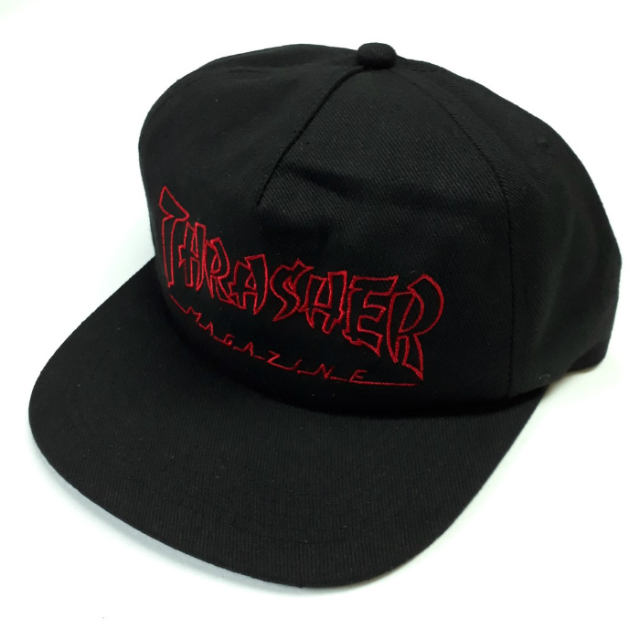 Thrasher Magazine - China Banks - Snapback Cap - Black