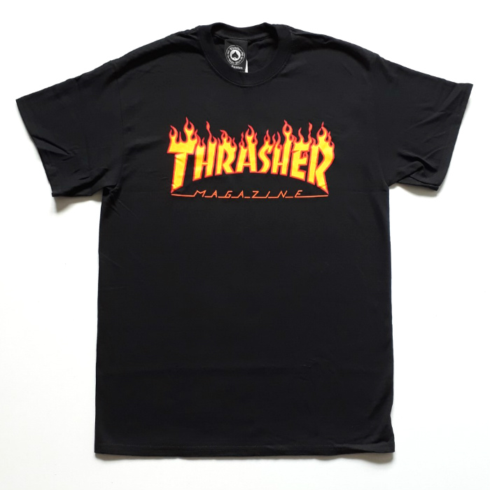 Thrasher Magazine - Flame Logo T-Shirt - Black
