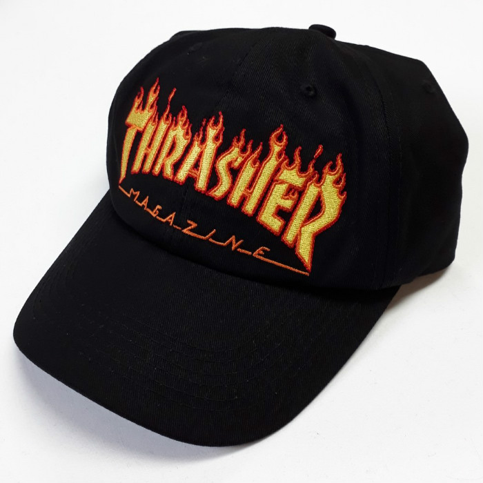 Thrasher Magazine - Flame Old Timer - Cap - Black