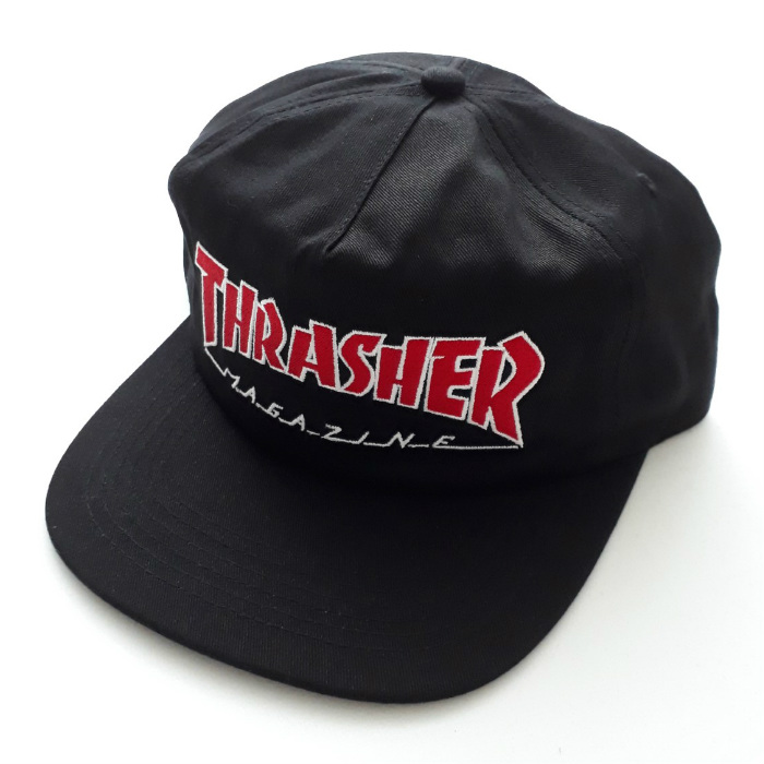 Thrasher-Magazine-Outlined-Snapback-Cap-Black