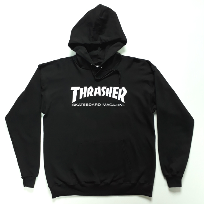 Thrasher Magazine - Skate Mag Logo - Pullover Hooded Sweatshirt - Black