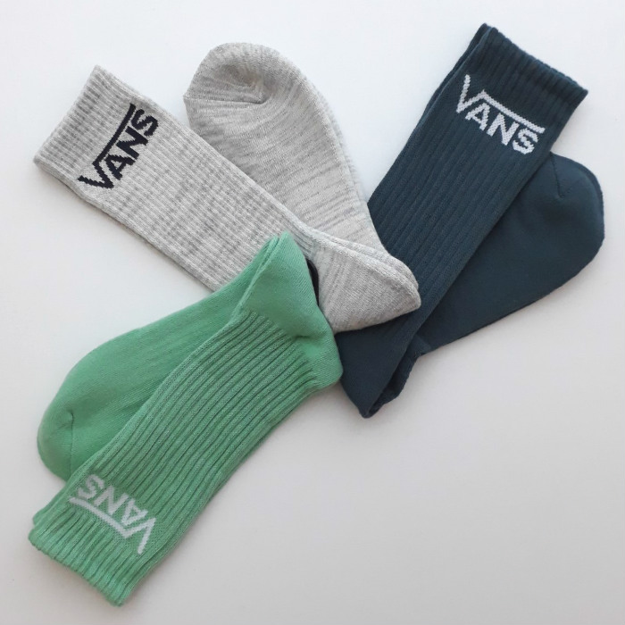 Vans - Classic Crew Socks - Dusty Jade Green Assorted - 3 Pack