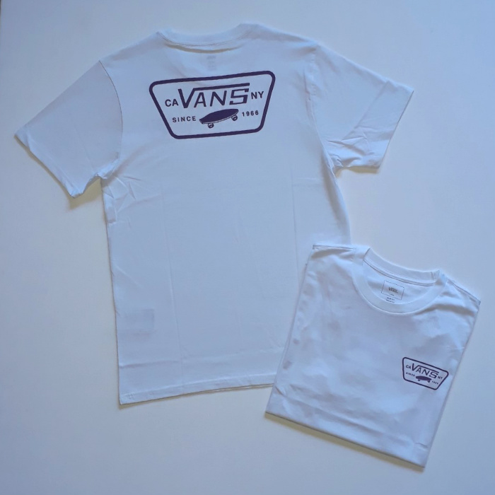 Vans - Full Patch Back - T-Shirt - White/Heliotrope