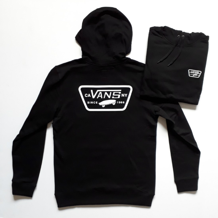 Vans - Full Patch - Pullover Hooded Sweatshirt - Black
