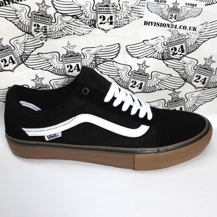 Vans - Old Skool Pro - Shoes - Black/White/Medium Gum