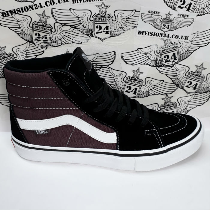 Vans - SK8 Hi Pro - Shoes - Black/Raisin