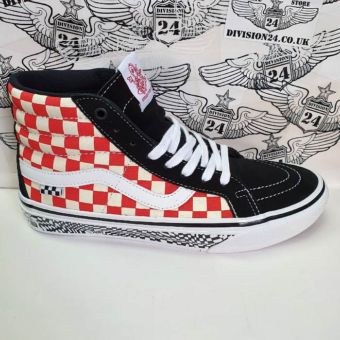 Vans - SK8 Hi Reissue - Grosso '84 Shoes - Black/Red Check