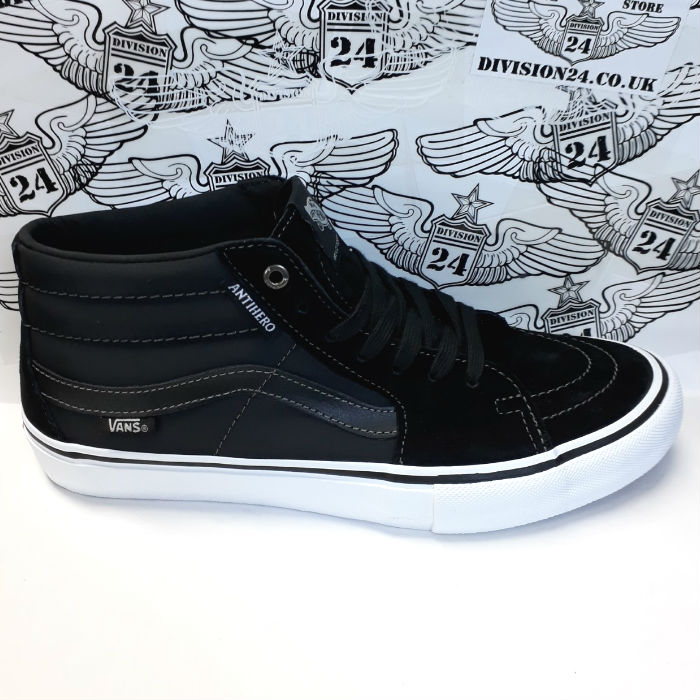 Vans - SK8 Mid Pro (Anti Hero) Shoes - Grosso/Black